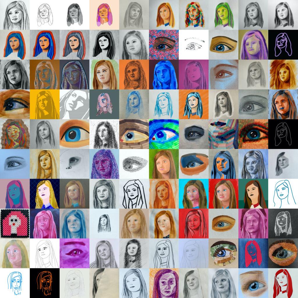 100 Portraits of Ava by Karen