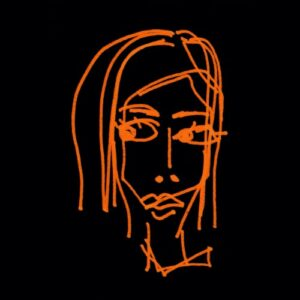 Day 2 - Inverted colour digital image portrait