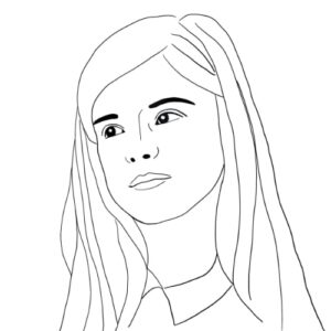 Day 12 - Digital black and white line drawing