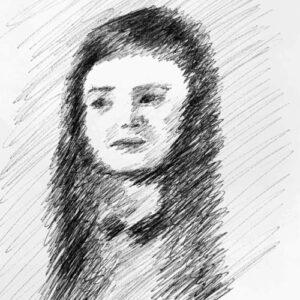Day 15 - Quick black biro pen drawing