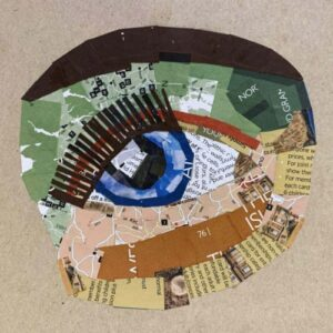 Day 18 - Paper collage of an eye