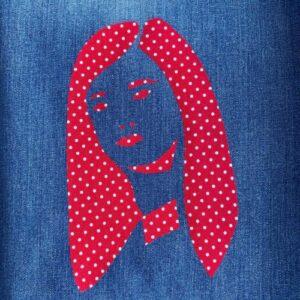 Day 19 - Fabric appliqué on denim