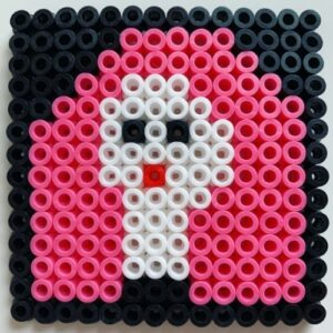 Day 21 - Small bead portrait in three colours