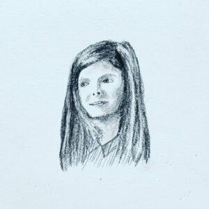 Day 24 - Tiny charcoal portrait