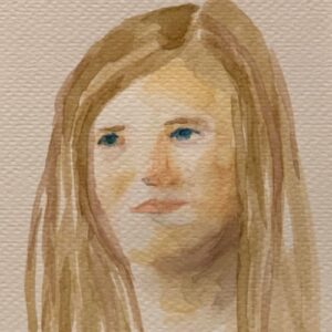 Day 25 - Watercolour portrait painting