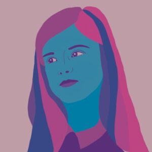 Day 31 - Digital illustration in pink and blue