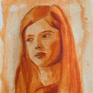Day 36 - Burnt Sienna monotone acrylic painting