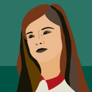 Day 39 - Digital illustration with woman in green palette