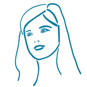 Day 40 - Digital bold line drawing in teal