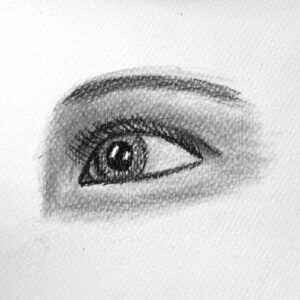 Day 41 - Charcoal drawing of an eye