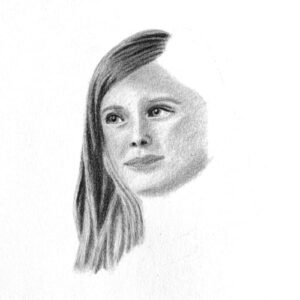Day 50 - Small graphite portrait drawing