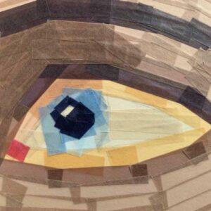 Day 55 - Limited palette Washi tape eye portrait