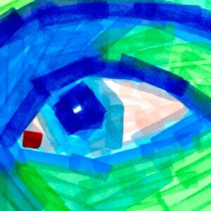 Day 56 - Limited palette pro marker pen portrait of an eye