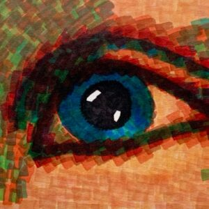 Day 59 - Limited palette promarker drawing of an eye