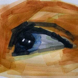 Day 61 - Limited palette watercolour drawing of an eye