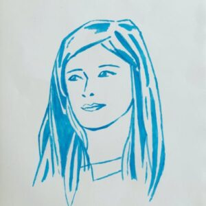 Day 66 - Blue promarker pen drawing