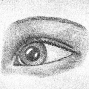 Day 69 - Graphite drawing of an eye