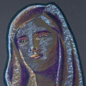 Day 73 - Limited palette pastel portrait drawing