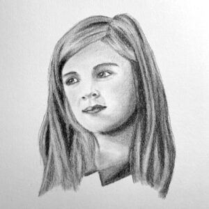 Day 99 - Small charcoal portrait drawing