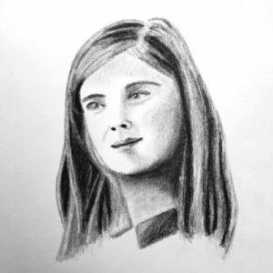 Day 100 - Charcoal portrait drawing